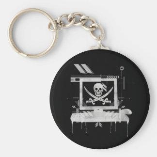 piratehack llavero redondo tipo pin
