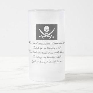 PirateLife,GlassMug Frosted Glass Beer Mug