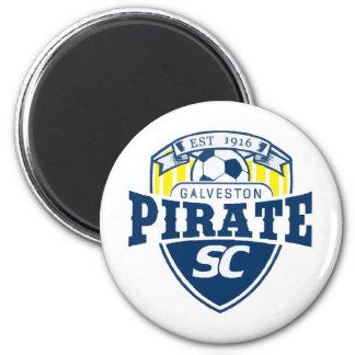 piratelogo2 2 inch round magnet