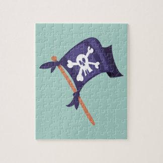 Piratenfahne pirate flag jigsaw puzzle