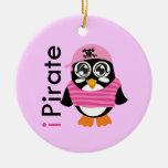 pirateo el ornamento del pingüino adorno de navidad