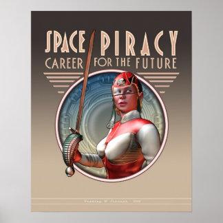 Piratería del espacio: Carrera para el futuro (16x Póster