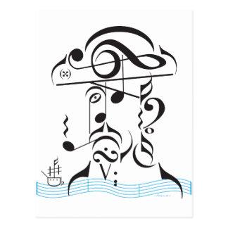 Piratería musical tarjetas postales