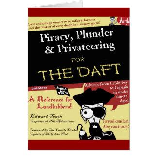 Piratería para el tonto tarjeta de felicitación