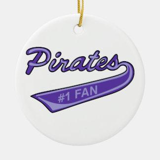 Pirates #1 Fan Ceramic Ornament
