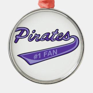 Pirates #1 Fan Metal Ornament