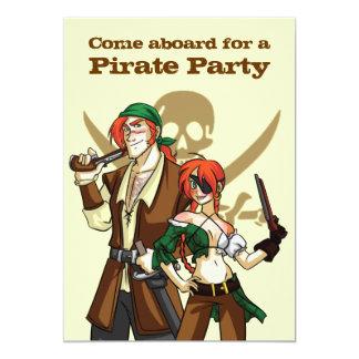 """Pirates 5"""" X 7"""" Invitation Card"""