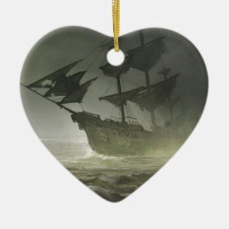 Pirates Aboard Ceramic Ornament
