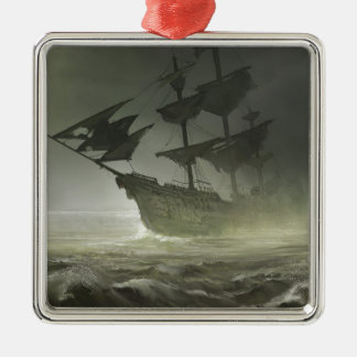 Pirates Aboard Metal Ornament