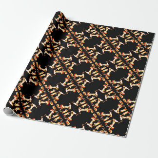 Pirates Afire Wrapping Paper