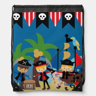 Pirates Ahoy Drawstring Backpack Bag