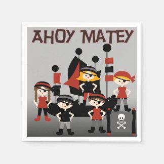 Pirates Ahoy Matey Paper Napkins