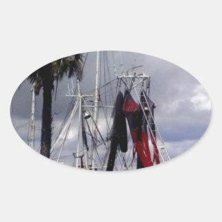 Pirates Ahoy Oval Sticker