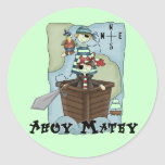 Pirates Ahoy Tshirs and Gifts Classic Round Sticker