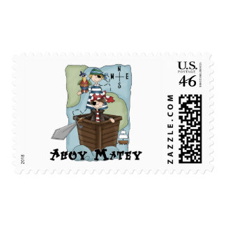 Pirates Ahoy Tshirs and Gifts Postage Stamp