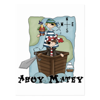 Pirates Ahoy Tshirs and Gifts Postcard