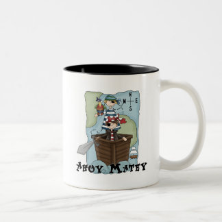 Pirates Ahoy Tshirs and Gifts Two-Tone Coffee Mug
