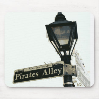 Pirate's Alley in Black & White Mouse Pad