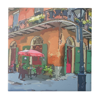 Pirates Alley New Orleans Ceramic Tile
