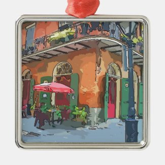 Pirates Alley New Orleans Metal Ornament