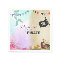 Pirates and Mermaids Birthday Party Paper Napkins