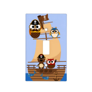 Pirates and Pirate Ship Light Switch Cover