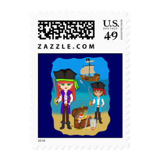 Pirates and Treasure Postage