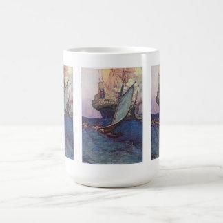 Pirates approaching coffee mug