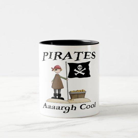 Pirates Are Cool Two-Tone Coffee Mug