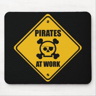 Pirates At Work Sign - Mousepad