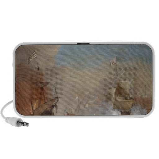 Pirates attack an English naval vessel painting Mp3 Speaker