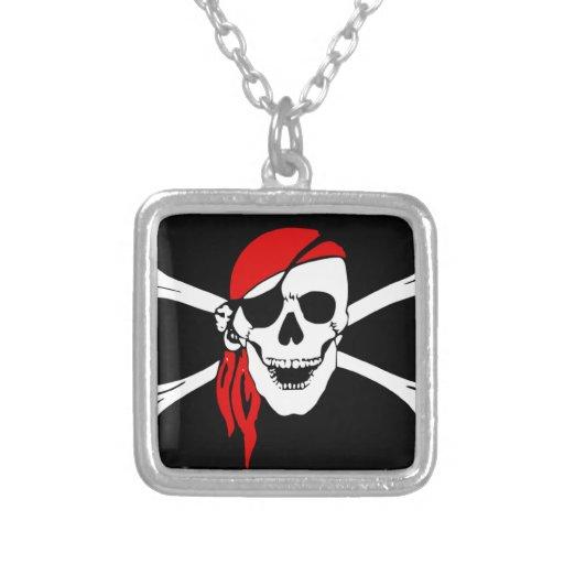 Pirates - Black and Red Pirate Skull Jewelry