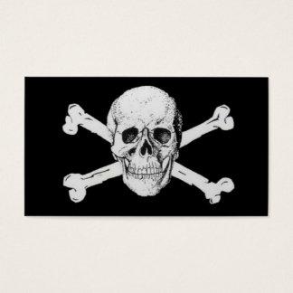 Pirates Black Skull and Crossbones Business Card