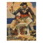 Pirates Boarding Ship Postcards