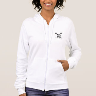 Pirate's Coral Womens White Hoodie