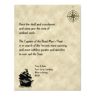 Pirates Cove Halloween Party Invitation