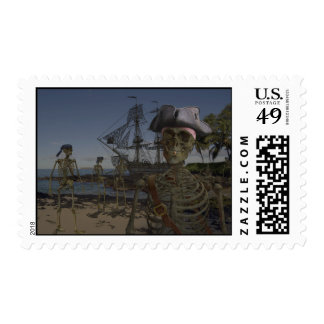 Pirates Curse Postage Stamps