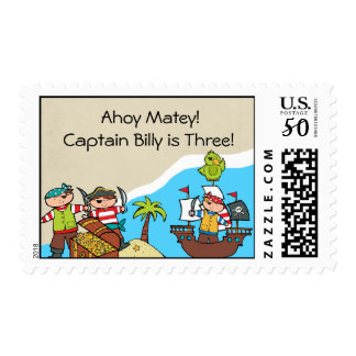 Pirates Customized Pirate Postage Stamps