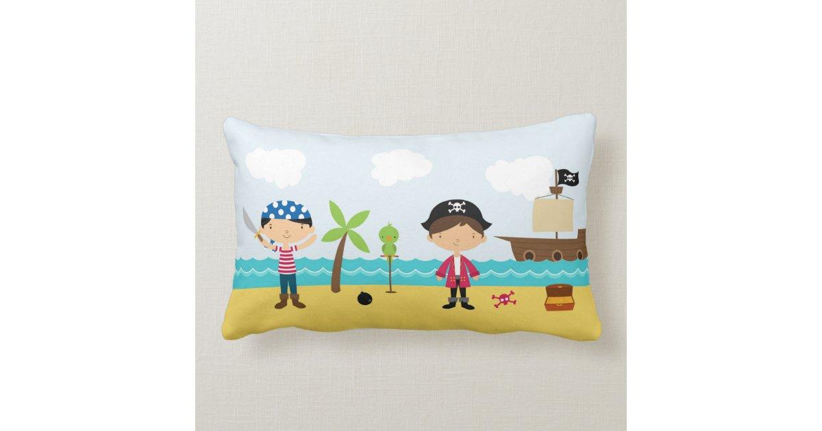 Throw Pillows Lagos : Pirates Cute Boy Throw Pillow Zazzle