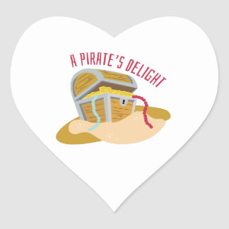 Pirates Delight Heart Stickers
