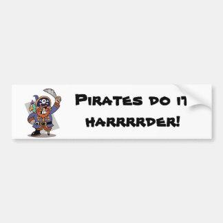 Pirates Do It Harrrrder! Bumper Sticker