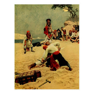 Pirates Fighting to be Captain Postcard