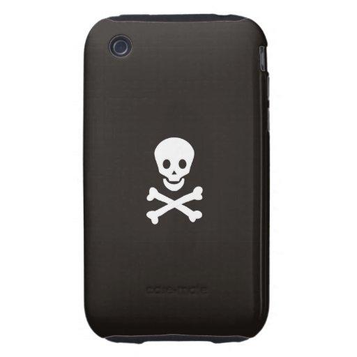 pirates flag case skull bones death dead tough iPhone 3 cover