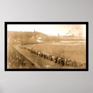 Pirates Giants Baseball Photo 1904 Poster