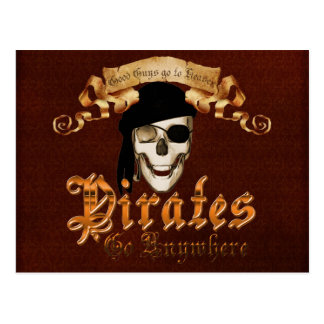 Pirates go anywhere post cards