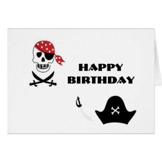 Pirates Happy Birthday Greeting Card