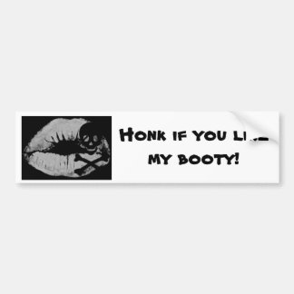 Pirates Honk for Booty Bumper Sticker
