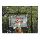 Pirates' House Restaurant Sign Savannah Georgia Postcard