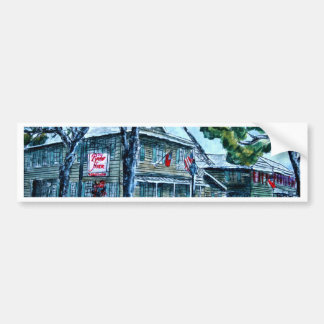pirates house savannah georgia watercolor painting bumper sticker
