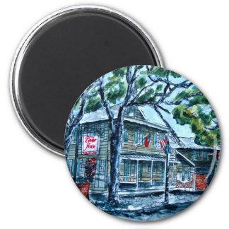 pirates house savannah georgia watercolor painting refrigerator magnet